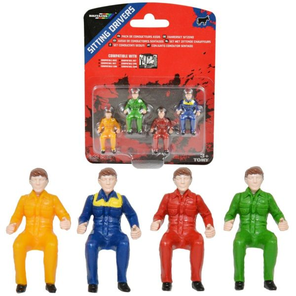 Tomy Britains Sitting Drivers For Use In Toy Tractors With Removable Cab